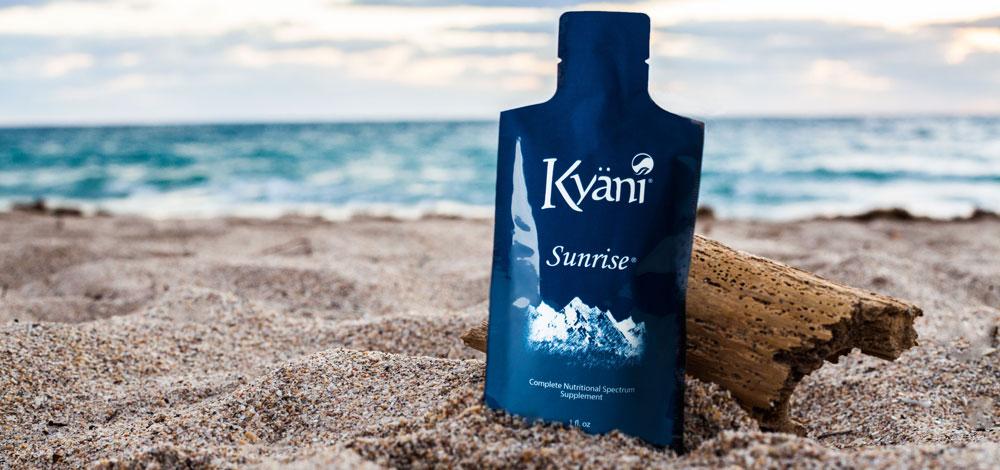 Kyani on sand