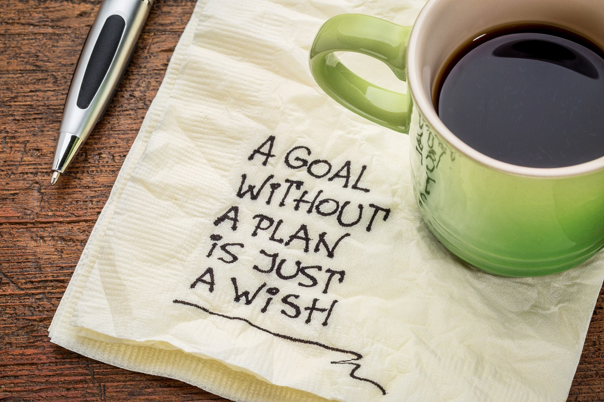 By planning, you substantially increase your chances of obtaining your goals
